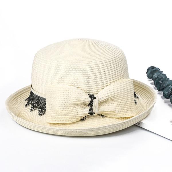 Dames Mode/Speciaal/Eenvoudig/Luim Polyester met strik Strand / Zon Hoeden