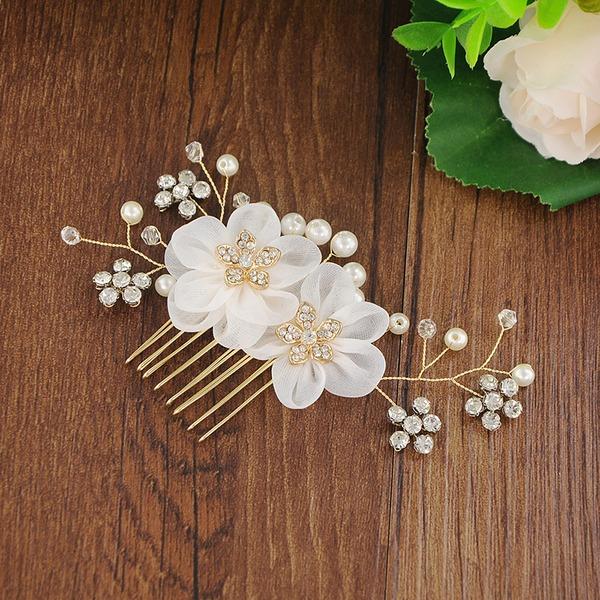 Señoras Glamorosa La perla de faux/Perlas Peines y pasador (Se venden en una sola pieza)