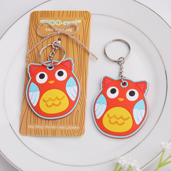 Lovely Owl Shaped Plastic Keychains