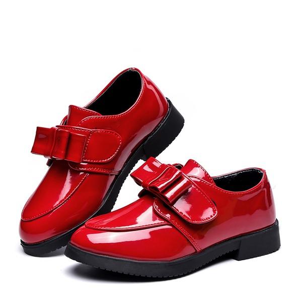 Fille de Bout fermé similicuir talon plat Chaussures plates avec Bowknot