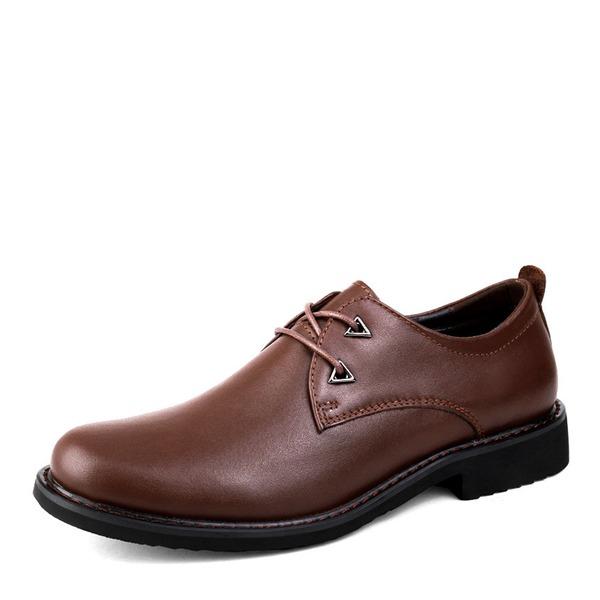 Erkek gerçek deri Bağcıklı Derbiler Gündelik İş Erkek Oxford Ayakkabı