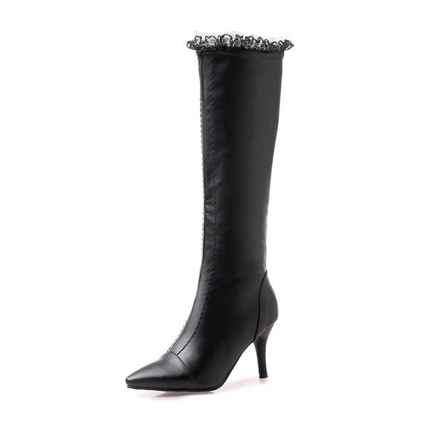 Donna Similpelle Tacco a spillo Stiletto Stivali Stivali al ginocchio con Altrui scarpe