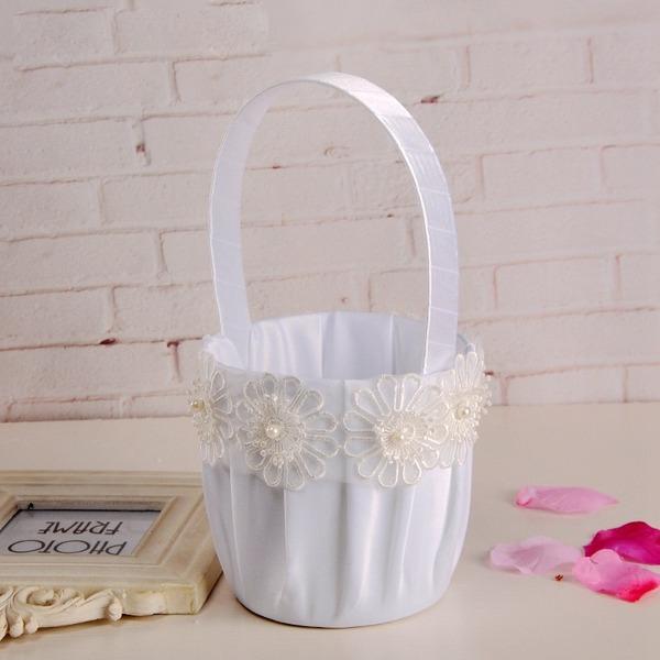 Klasický Květinový koš v tkanina S Květiny