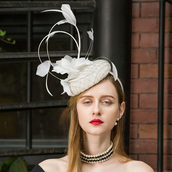Damene ' Glamorøse/Elegant/Iøynefallende/Pen Cambric Fascinators