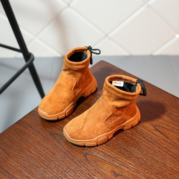Fille de bout rond Bout fermé Bottines en tissu talon plat Chaussures plates Bottes Sneakers & Athletic