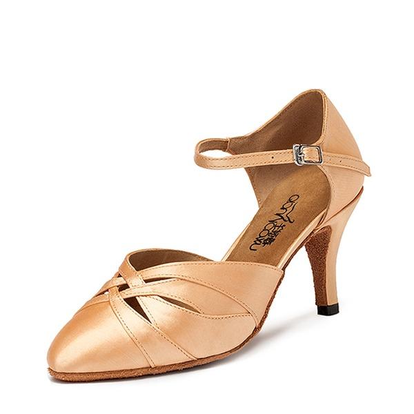 De mujer Satén Tacones Sala de Baile Zapatos de danza