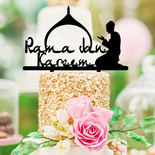 Religious/ClassiMuslim Islam Eid al-Fitr  Acrylic Cake Topper (Sold in a single piece)