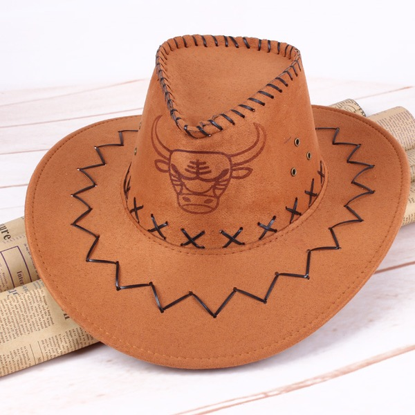 Erkek bağbozumu Suni Deri Kovboy şapkası