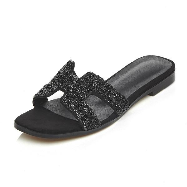 Naisten Aitoa nahkaa Matalakorkoiset Heel Sandaalit Tossut kengät