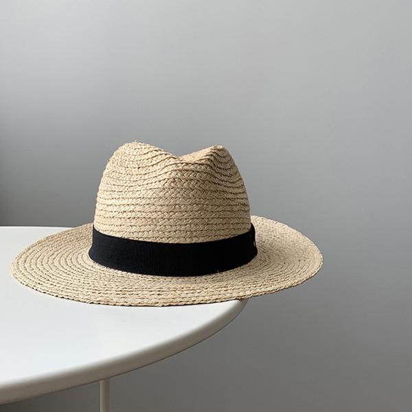 Unisexmodell Hotteste Sengetøy/Salty Straw Stråhatt/Panama Hat/Kentucky Derby Hatter