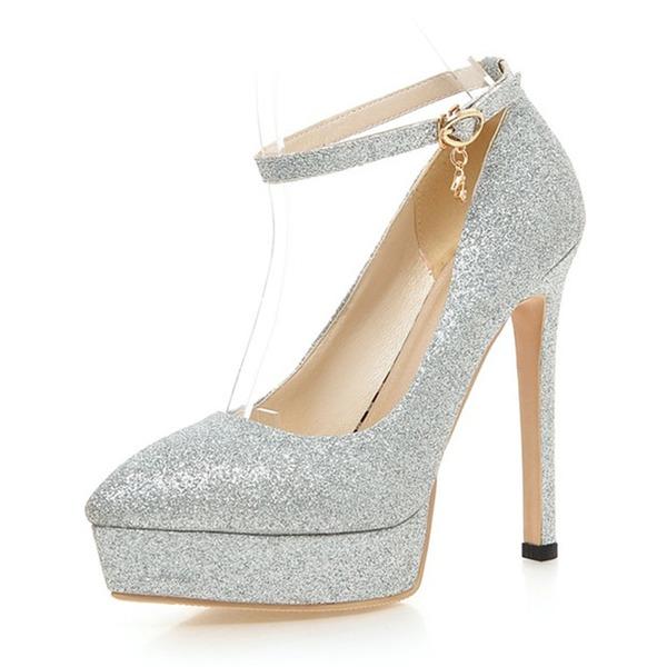 Dla kobiet Byszczący brokat Obcas Stiletto Czólenka Platforma Z Cekin Klamra obuwie