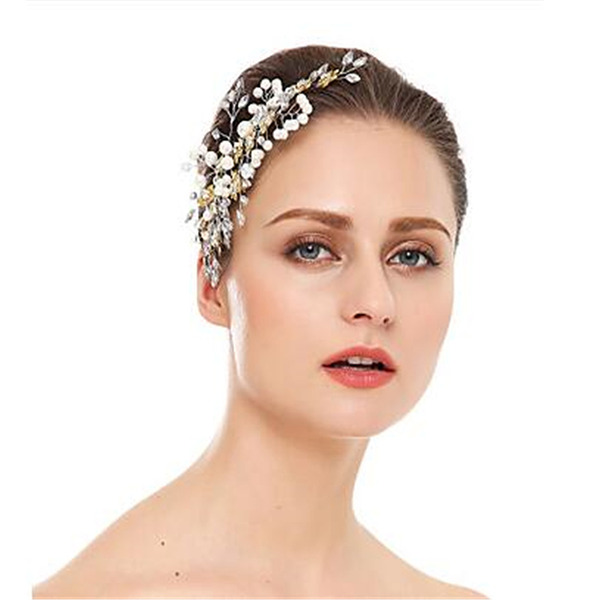 Ladies Classic Rhinestone/Pearls Hairpins (Sold in single piece)