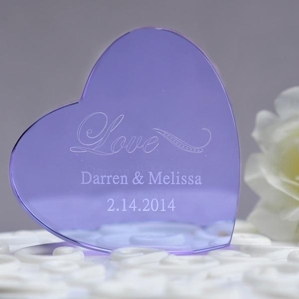 Persoonlijke Hart Gevormd Kristal Taart Cilinderhoed
