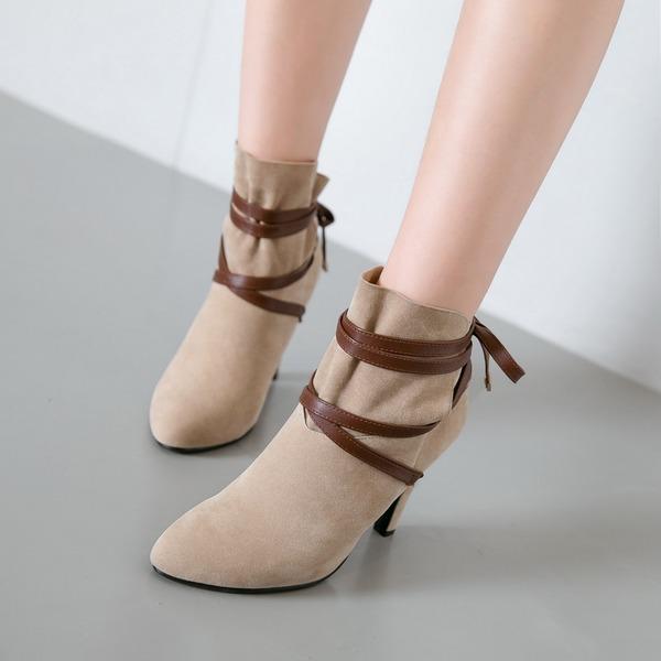 Frauen Veloursleder Stöckel Absatz Absatzschuhe Stiefel Stiefelette mit Andere Schuhe
