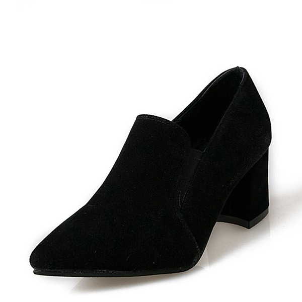 Frauen Veloursleder Stämmiger Absatz Absatzschuhe Geschlossene Zehe mit Andere Schuhe