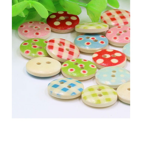 Pretty Wooden Buttons (set of 100)