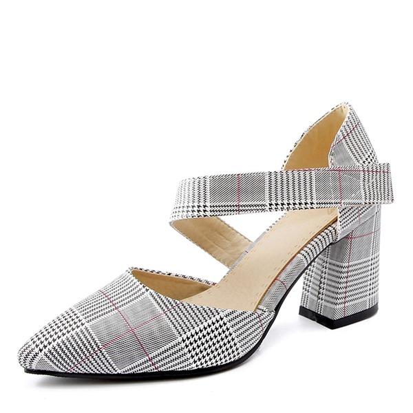 Frauen Kunstleder Stämmiger Absatz Absatzschuhe Geschlossene Zehe Stiefel über Knie Schuhe