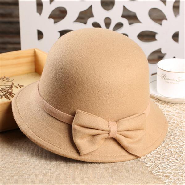 Dames Mode Polyester Bowlingspeler / Glazen kap Hat