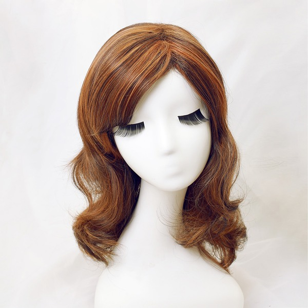 High temperature Curly Mid-Length Synthetic Wigs
