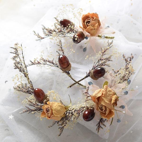 Dámy Speciální Silk Flower Spony do vlasů/Čelenky