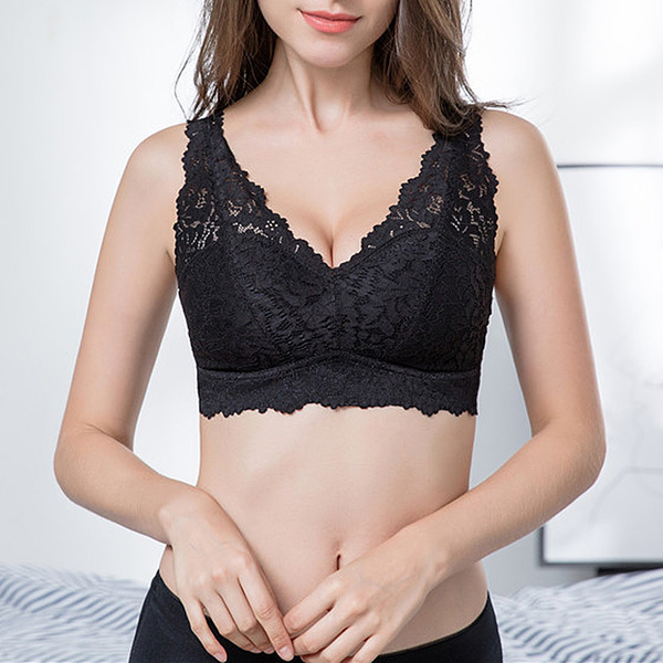 Low-key Polyester Wireless/Bralette Bra