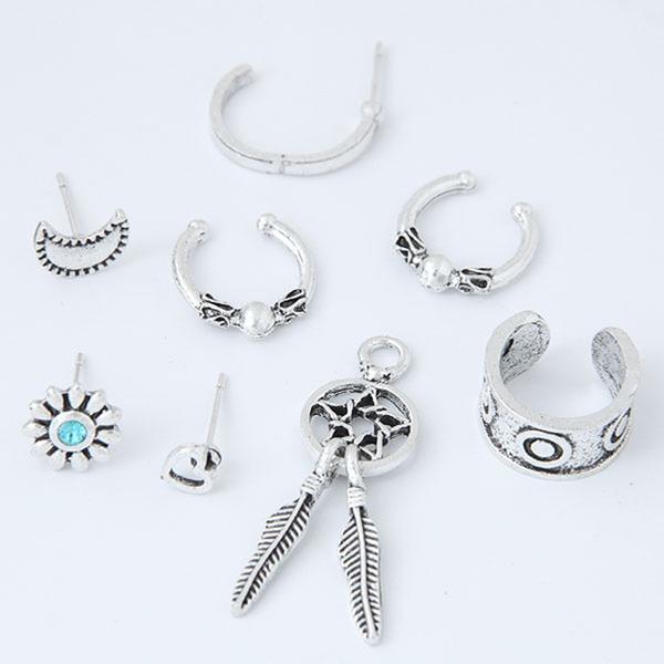 Exquisiten Legierung Frauen Art-Ohrringe (Set aus 8)