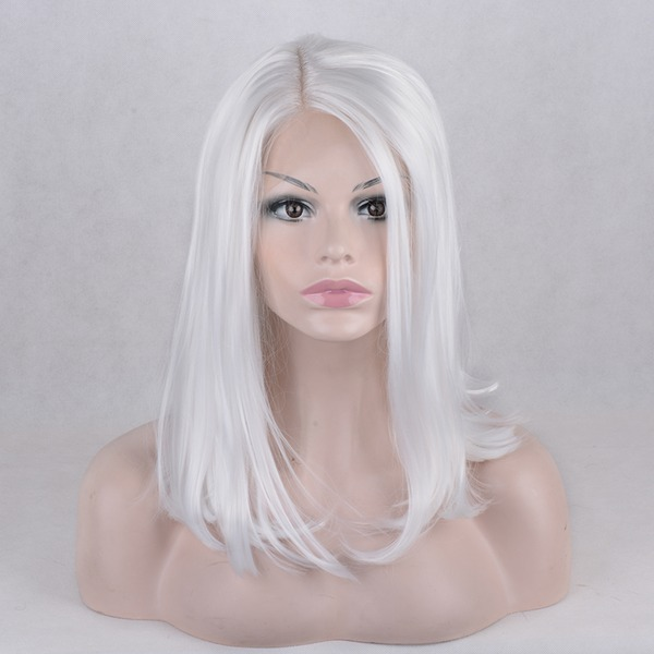 Rett Syntetiske parykker Lace Front Parykker