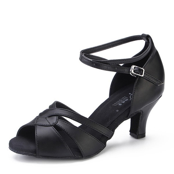 Kadın Gerçek Deri Topuk Latin Dans Ayakkabıları
