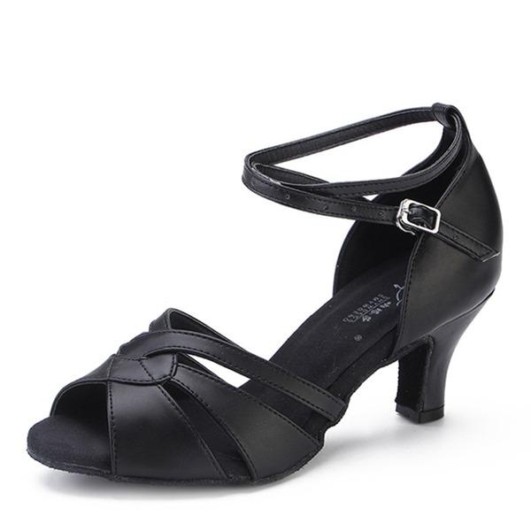 Femmes Vrai cuir Talons Latin Chaussures de danse