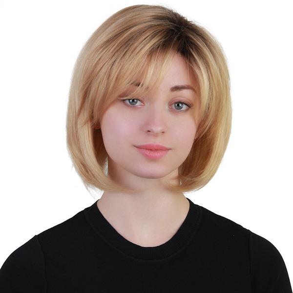 Kinky Straight Mezcla de cabello humano Pelucas del pelo humano 120g
