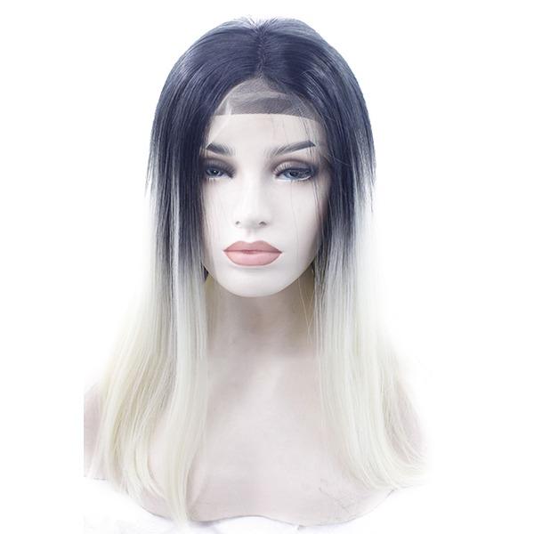 Gerade menschliche Haar Perücken Spitze Front Perücken