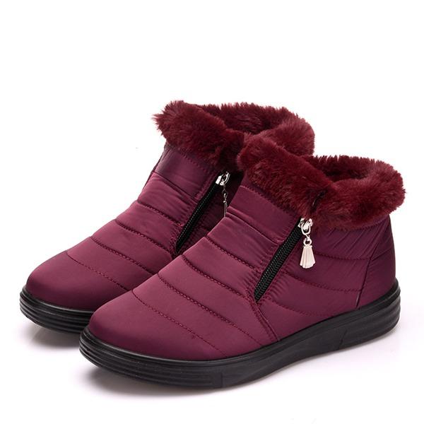 Kvinner Klut Flat Hæl Flate sko Støvler sko