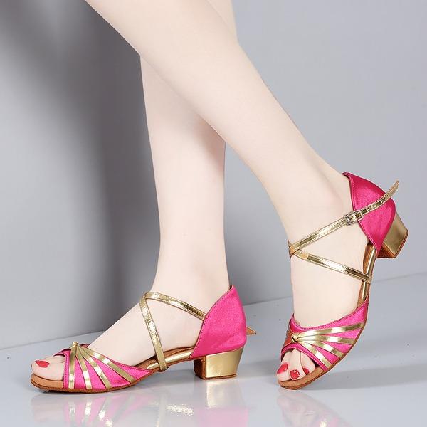 Çocuk Saten Sandalet Latin Dans Ayakkabıları