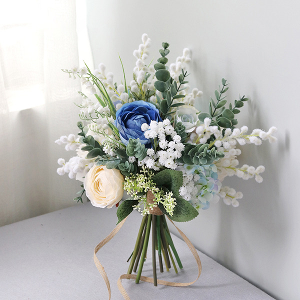 Free-Form Silk Flower Bridal Bouquets -