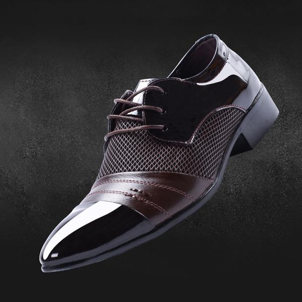 Men's Microfiber Leather Flats Latin Modern Dance Shoes