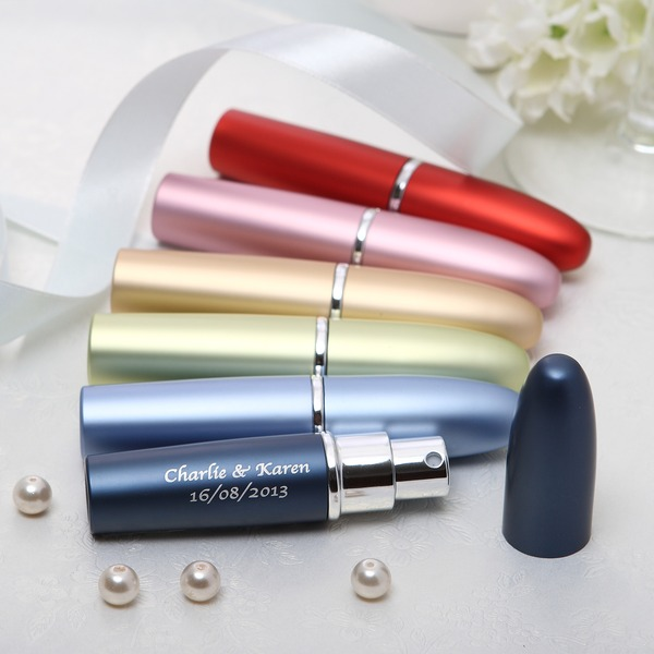 personnalisé Simple En alliage de zinc Bouteille de parfum (Lot de 4 couleurs mélangées)