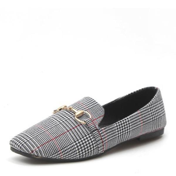 De mujer Cuero Planos Cerrados con Hebilla zapatos