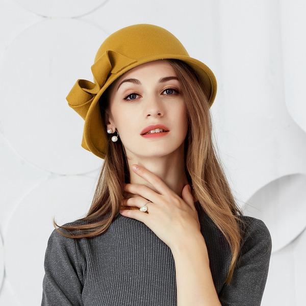 Bayanlar Moda/Romantik/bağbozumu Yün Disket Şapka
