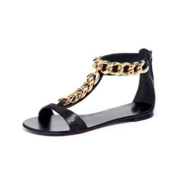 Women's Patent Leather Flat Heel Sandals Flats Peep Toe shoes