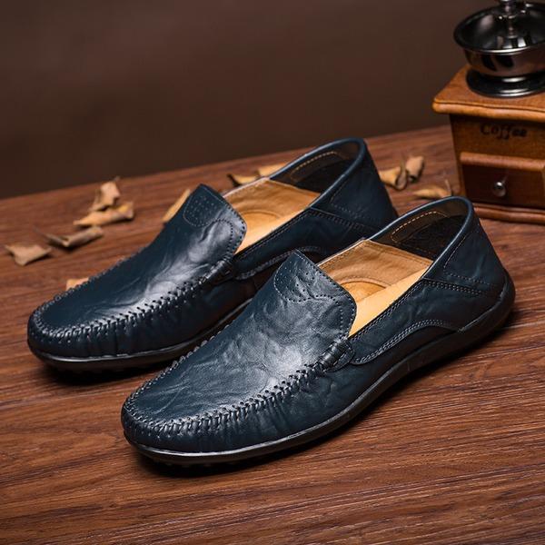 Menn Egte Lær Avslappet Loafers til herre