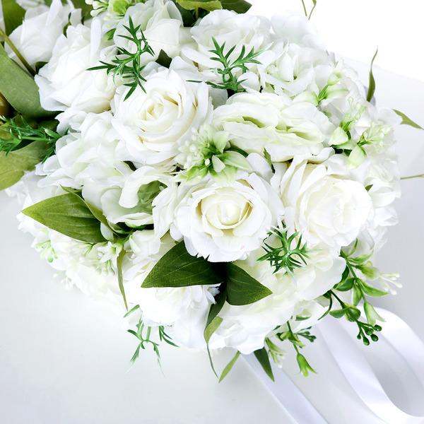 Pretty Cascada Perlas de imitación/Flores de seda Ramos de novia - Ramos de novia