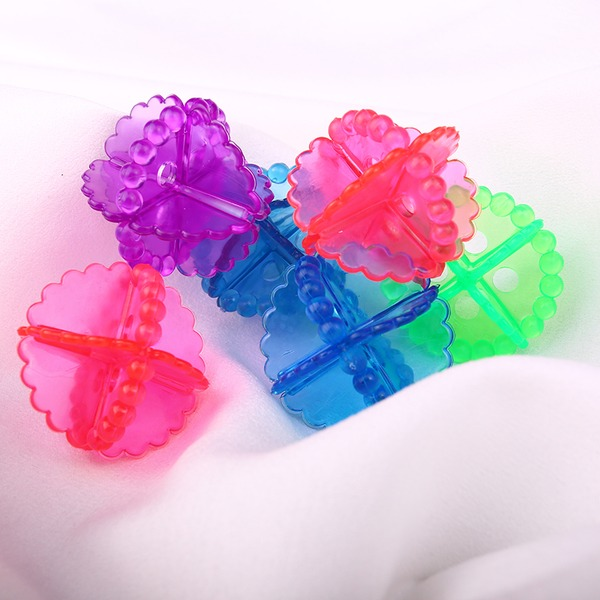 Plástico Bolas de lavagem de bolas de bolas mantendo a lavanderia Máquina de lavar roupa suave Fresco de tecido de secagem (Conjunto de 10) Presentes