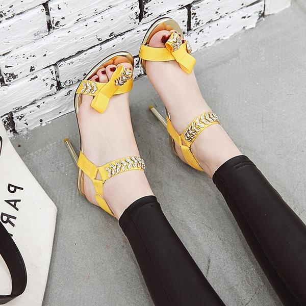 De mujer Tejido Tacón stilettos Sandalias Salón Encaje Solo correa con Hebilla zapatos