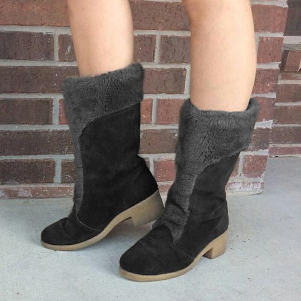 Mulheres Camurça Salto robusto Botas sapatos
