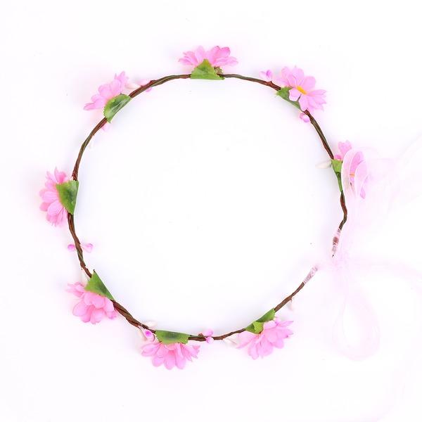Anhänger Kunstseide Blumen Mädchen Kopfstück/Blumen und Federn