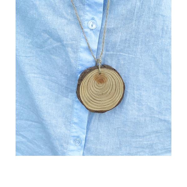 Estilo Vindima/Clássico Redondo De madeira Marcações (Vendido em um único)