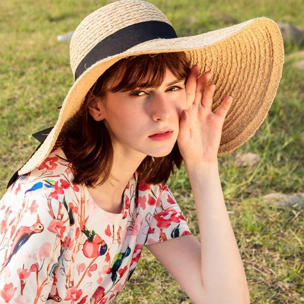 Dames Beau/Glamour/Simple/Accrocheur/Jolie/Charme/Fantaisie/Romantique Raphia paille Chapeaux de plage / soleil