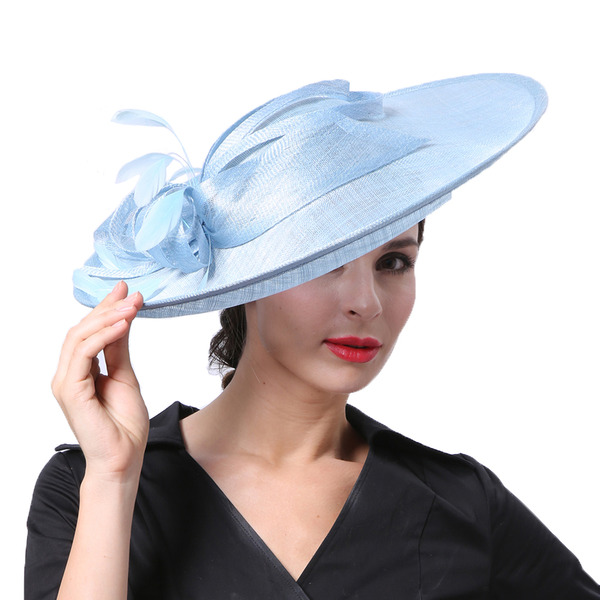 Ladies' Glamourous/Elegant/Pretty Cambric With Feather Kentucky Derby Hats/Tea Party Hats