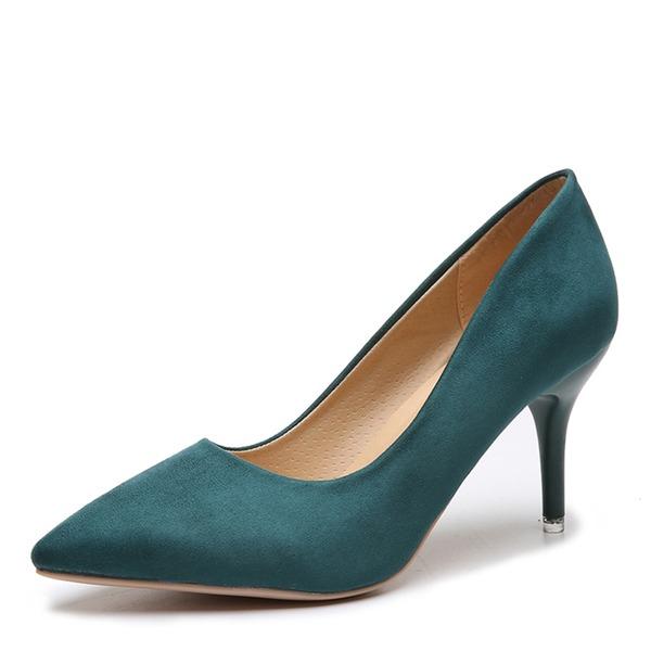 Женщины Замша Высокий тонкий каблук На каблуках обувь