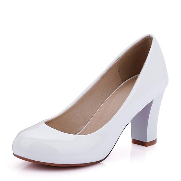 Donna PU Tacco spesso Stiletto Punta chiusa scarpe